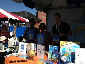 With my fabulous illustrator Adolph Soliz and fellow author Ron Noble
