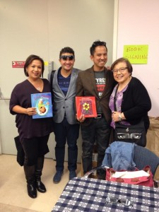 With author Adam Cafage and artist/illustrator Marconi Calendas.